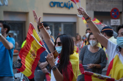 Protestas contra el Gobierno durante el estado de alarma.