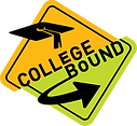 College bound road sign