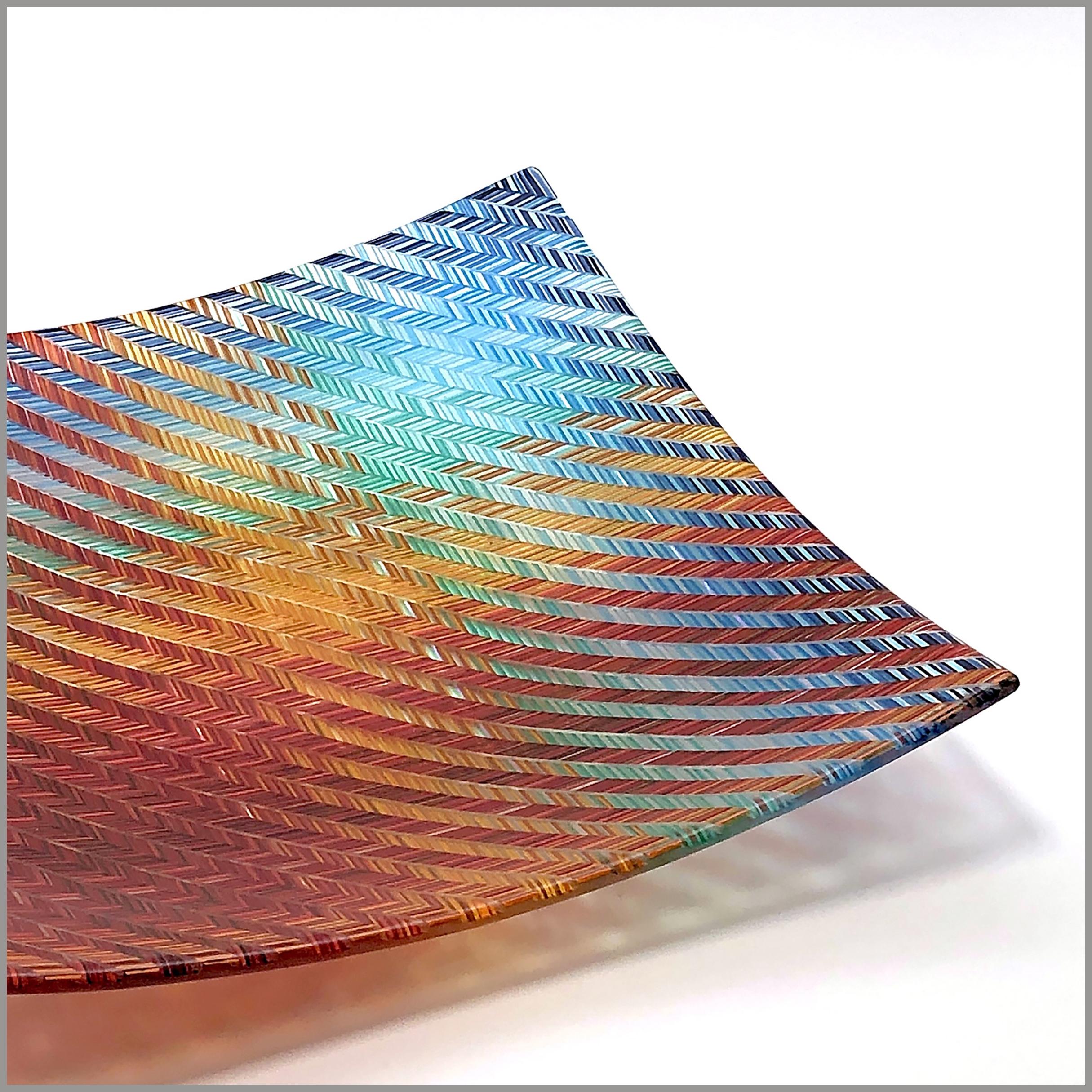 'V'Tapestry square tray