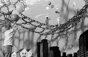 crochet rope sculpture Tina Fox Vivid Dolly