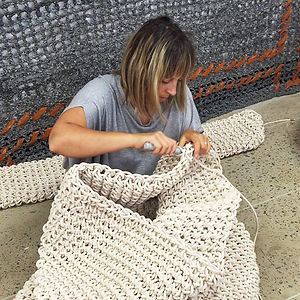 North Sydney art prize, crochet, art, tina fox artist, waverton coal loader