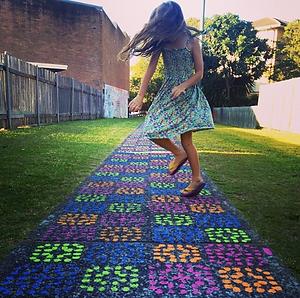 Concrete Blanket crochet stencil