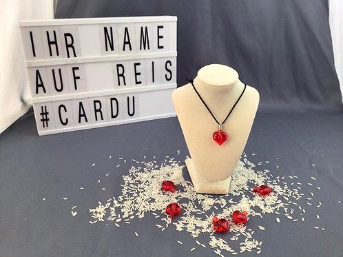 """Kopie von Ihr Name auf einem REISKORN """"rotes Herz"""""""