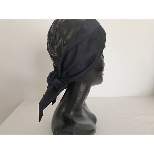 silk stroh turban / black