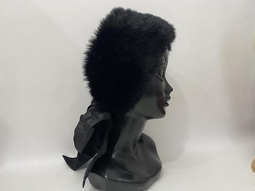 luxury eco fur turban belt