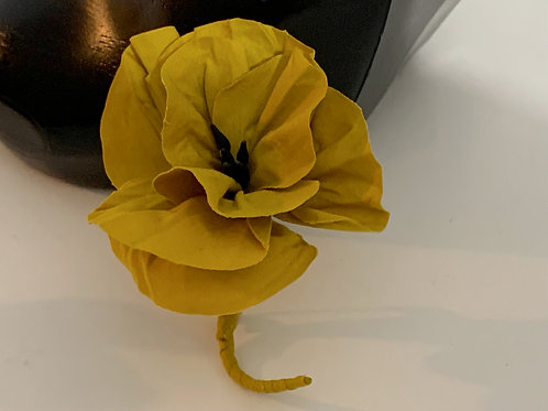 yellow flower brooch pin