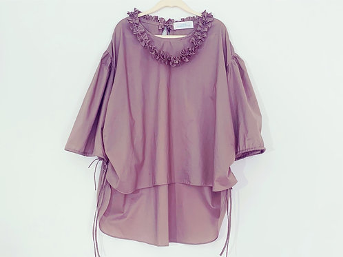 necklace blouse/ smokey lavender