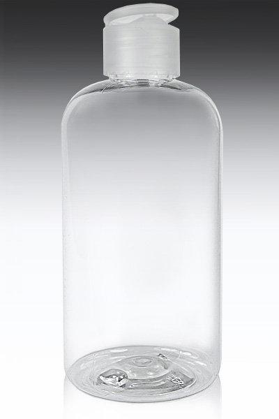 Jar Plastic Clear Cosmo 120 ml - Flip Top