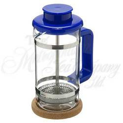 4 cup Tea Press blue