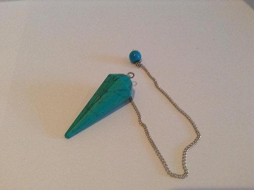 Pendulum Stone Hex. Cone Light Blue