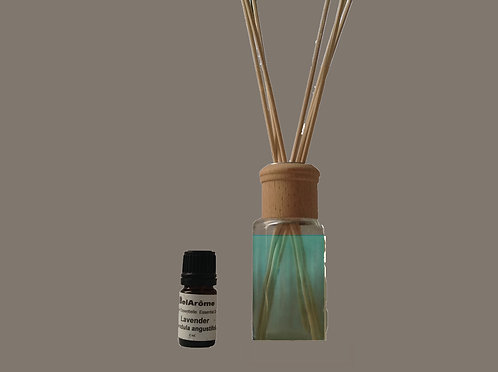 Diffuser Glass Bottle + Reeds + Base Oil+ 2.5ml EO