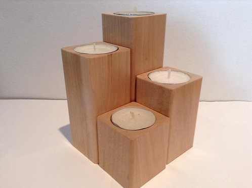 Wood 2 in- Handmade Candle Holder