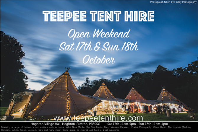 OPEN WEEKEND 17TH & 18TH OCTOBER 2015