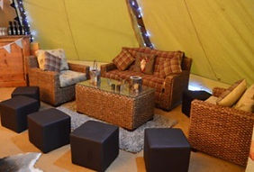 Teepee Tent Hire - Chillout Furniture