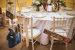 Teepee Tent Hire Round Table and Chiavari Chairs