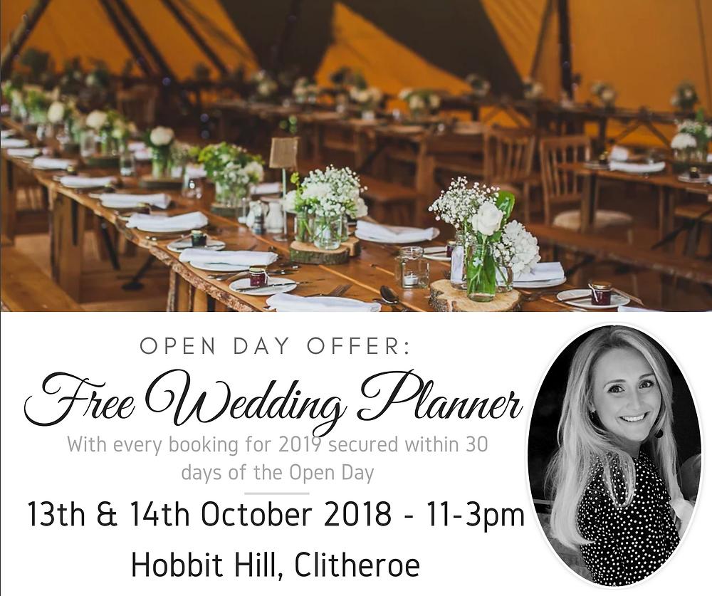 Free Teepee Wedding Planner Offer