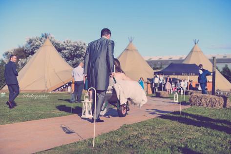 Lauren and Andy Teepee Wedding