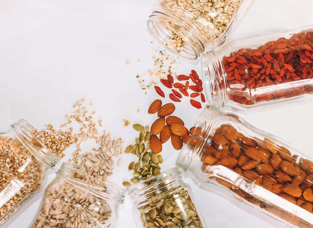 fibre, nuts, seeds, prebiotic, probiotic
