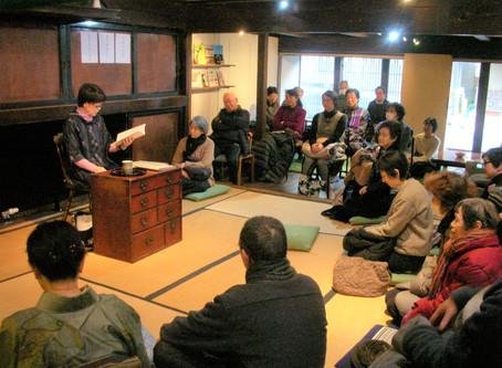 """「""""下町のお花ばあちゃん""""の盛岡弁で語る昔話っこ」を開催しました。"""