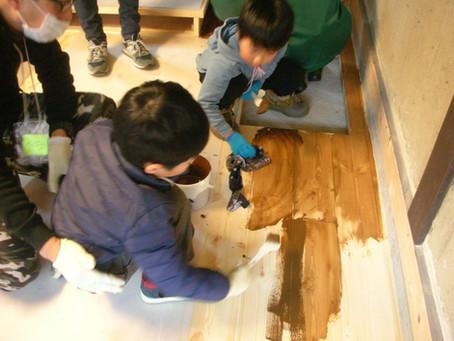 「盛岡町家修景改修体験/床塗りワークショップ~ぼくらで作ろう美しい街並み♪~」開催しました。