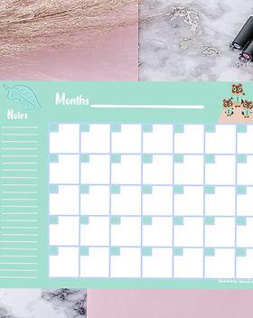 Calendrier sur mesure, calendar