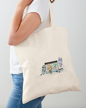 sac en tissu console switch, animal crossing sur redbubble