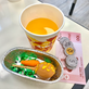 The pretend-food the kids used for the food stalls!