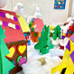 Beautiful Christmas Village made by our 3-6 year olds!