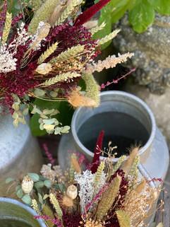 fleurs séchées, bouquet fleurs séchées