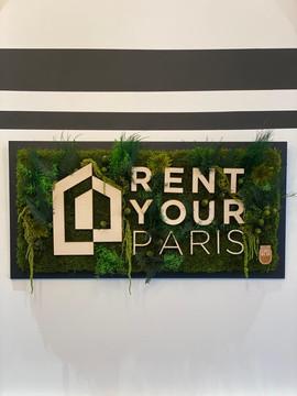 logo végétal entreprise, Rent your Paris