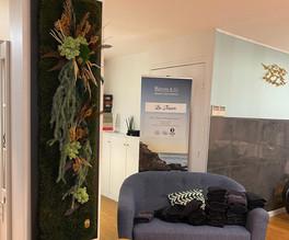 mur végétal, décoration verte green entreprise, rouen et paris