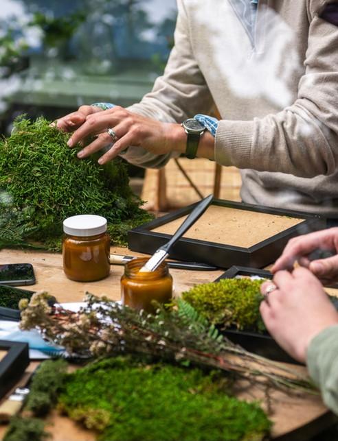 Atelier DIY Chanel / cadre et tableau végétal, rouen et paris