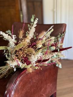 décoration florale, fleurs séchées