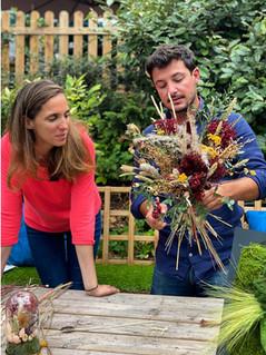 Atelier création bouquet fleurs séchées DIY - rouen et paris