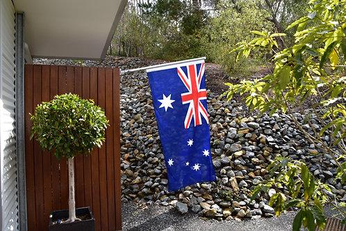 Special Wall Mounted - Australia Day Flag Kit - Flag, Bracket & Theflaguntangler