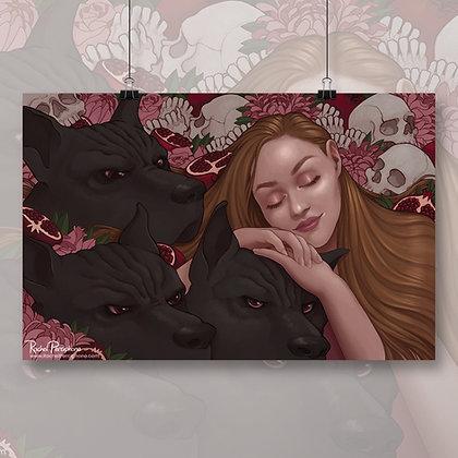 Persephone & Cerebus Art Print