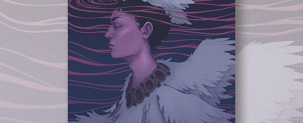 Swan King Art Print