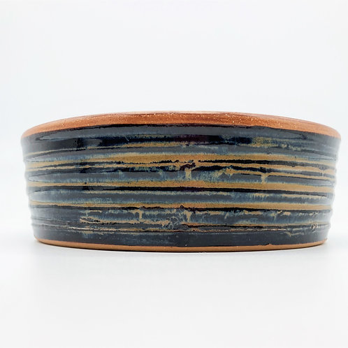 Handcrafted Stoneware Pet Bowl (dark )