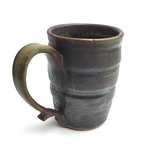 Mug (granite and rust with ridges)