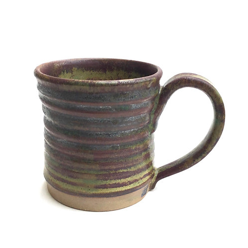 Mug (granite and rust with grooves)