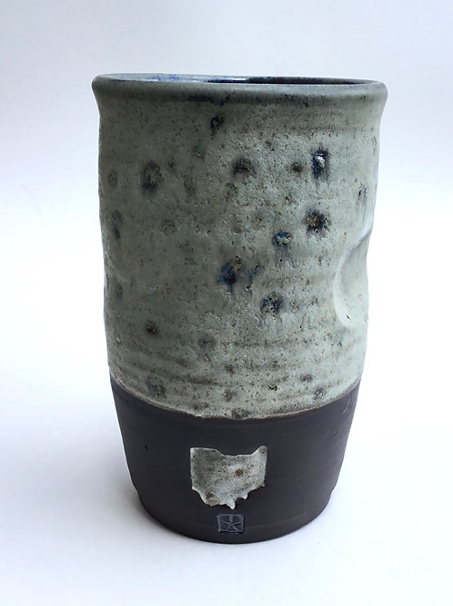 Black Ohio Tumbler (in Stoney grey glaze)