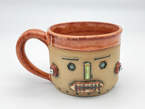 Robot Cup (rusty orange)