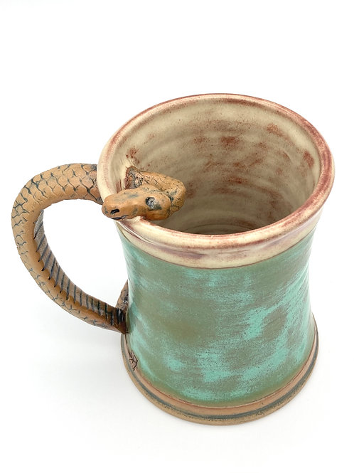 Snake Stein (aged green and cream)