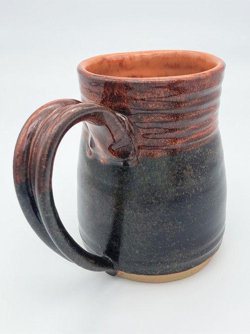 Large Mug (tobacco and rusty orange glaze)