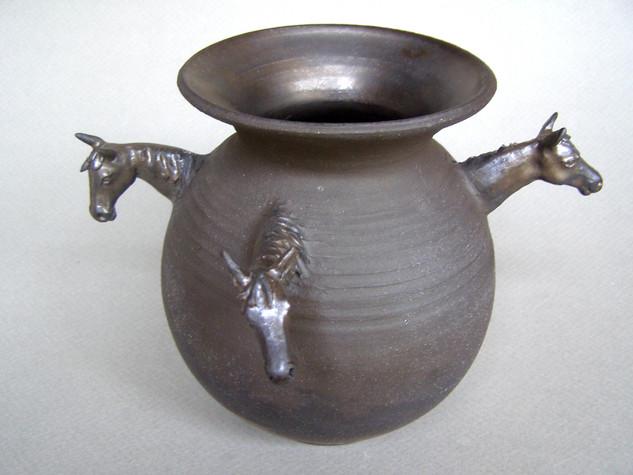 4 Horsemen- Ceramic Vase with horses