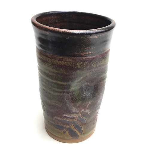 Tall Tumbler (stony green with leaves)