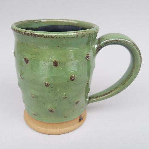 Shimmering Green Bumpy Mug