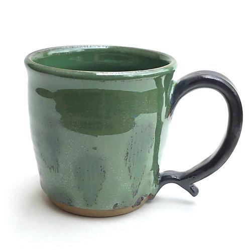 Mug ( gunmetal and shimmering green)