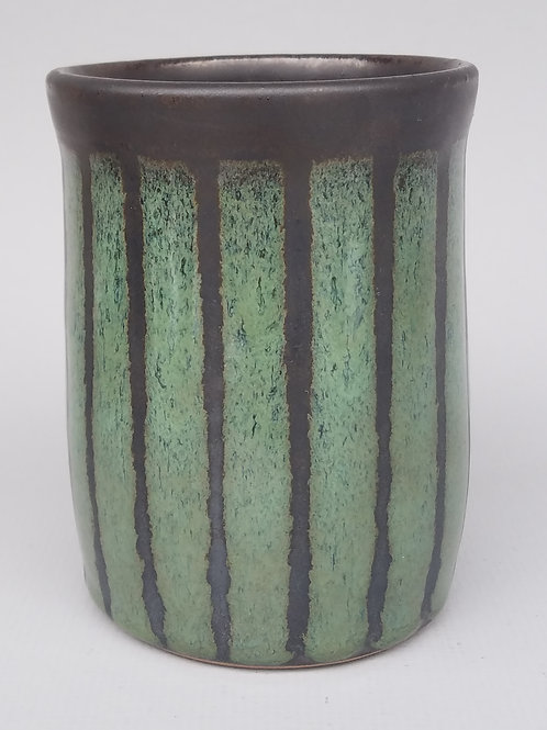 Stoneware Tumbler (bark and leaf)