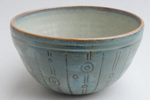 Blue Green Serving Bowl